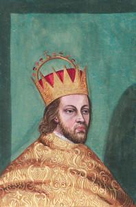 """Herzog Rudolf IV. von Habsburg """"Superstar"""", Stifter der Universität Wien und des Kollegiatskapitels zu St. Stephan, Begründer des Stephans Doms, (*1339 in Wien; † 27.7.1365 in Mailand), war der genialste Politiker seiner Zeit. Obzwar nur ein Herzog, war sein Auftreten das eine Königs. Seit 1356 war er mit der Tochter Kaiser Karls IV., Katharina von Luxemburg, verheiratet. Als 19jähriger übernahm er 1358 die Regierung der gesamten """"Herrschaft zu Österreich"""". In Fortsetzung der Jahre langen Bemühungen seines Vaters, Albrecht """"der Weise"""", war es ihm 1359 gelungen, beim Papst den nachträglichen kirchlichen Segen für die Ehe Margarethes von Tirol mit Ludwig von Brandenburg zu erreichen. Die Ehegattin Meinhards III., Margarethe von Österreich, war seine Schwester. Als 23jähriger gewann er nach dem unerwartet frühen Tod von Meinhard III. das Herz der Tiroler Margarethe, des Tiroler Adels und die ganze Grafschaft. Die Hausmachtspolitik der Habsburger, durch den Abschluss von Erbverträgen und Verheiratung den eigenen Machtbereich zu erweitern, wurde ganz wesentlich durch vorangetrieben."""