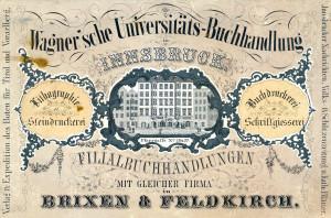 Wagner'sche Firmenwerbung Anno 1850.